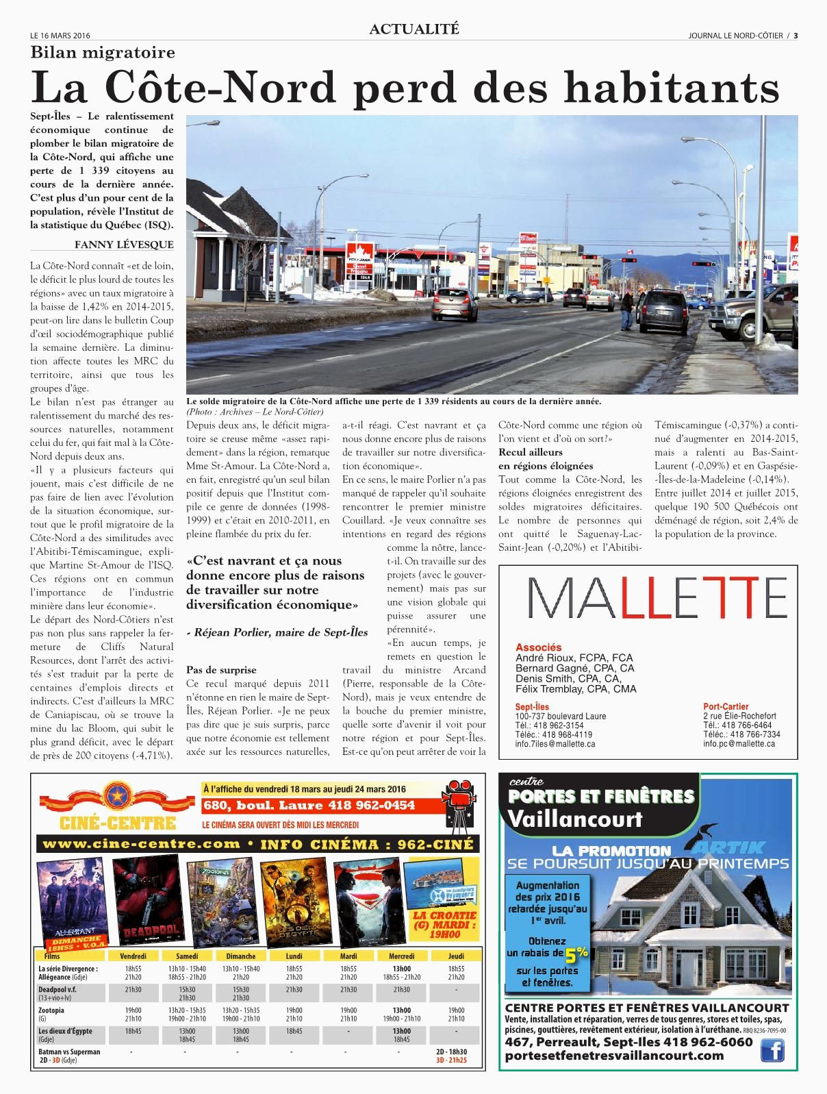 Le Nord Cotier 16 mars 2016 Pages 1 50 Text Version