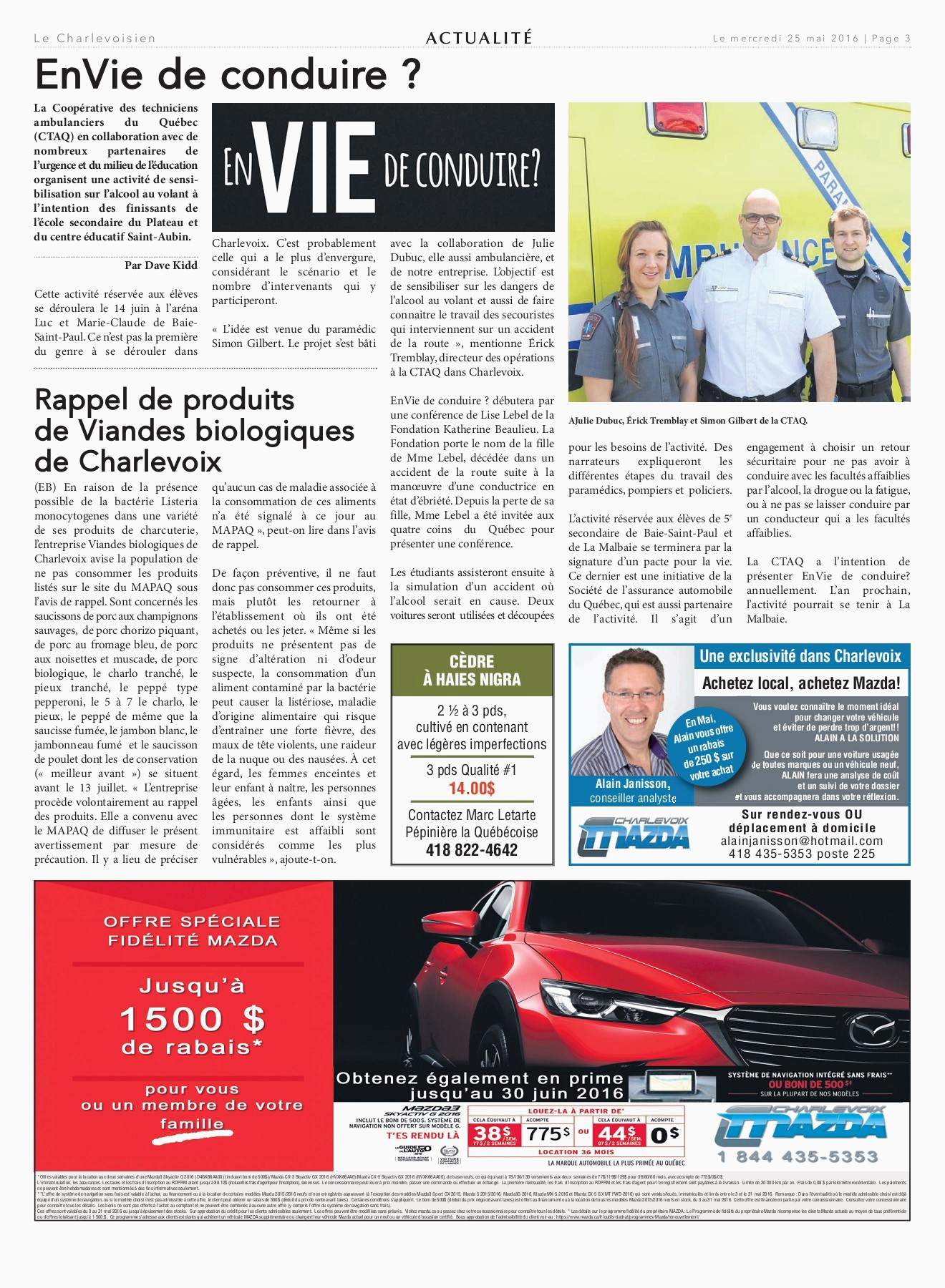 Le Charlevoisien 25 mai 2016 Pages 1 48 Text Version