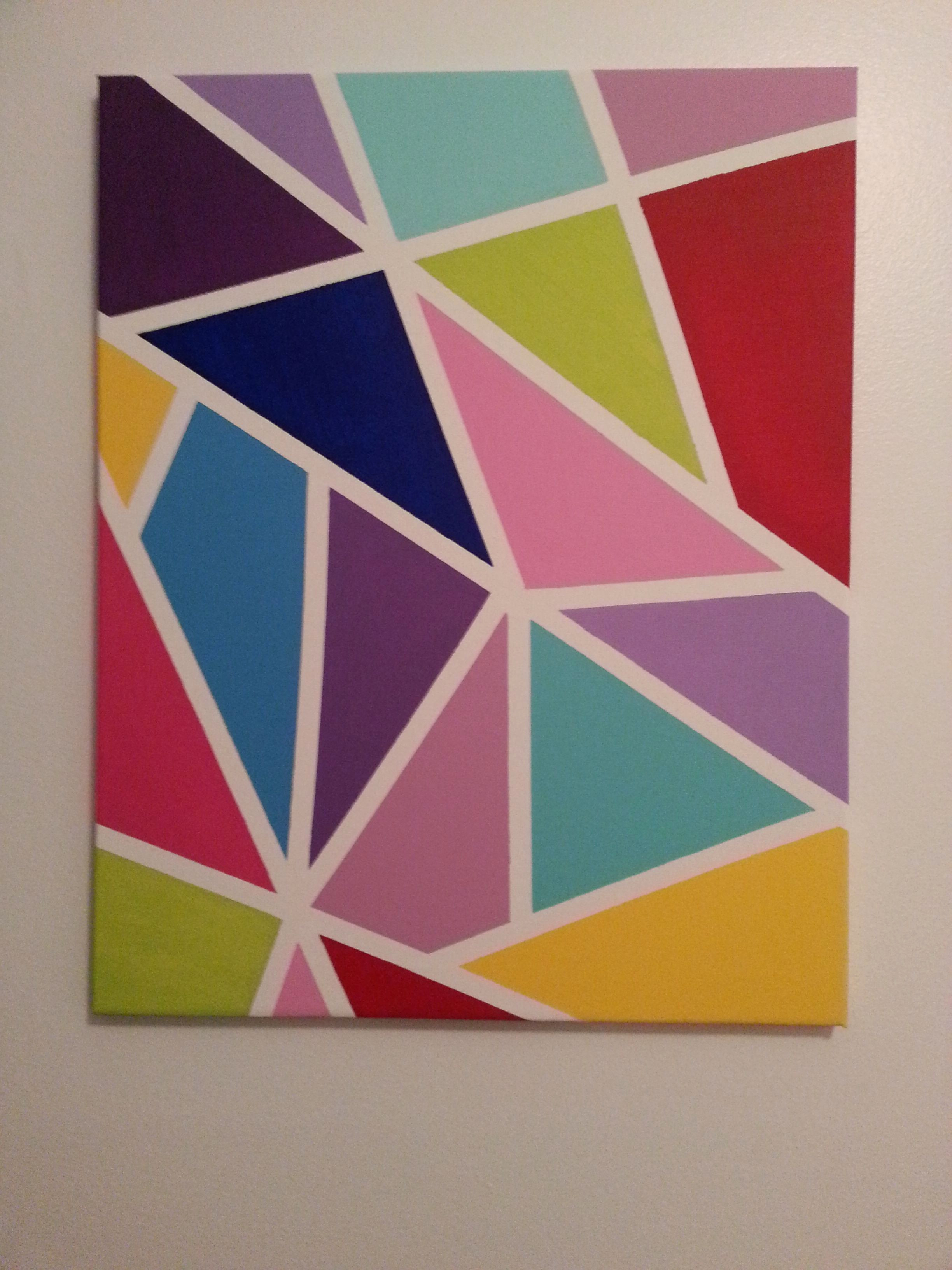 Galerie Peinture Fraiche Meilleur De Colorful Canvas Made with Masking Tape and Acrylic Paint Collection