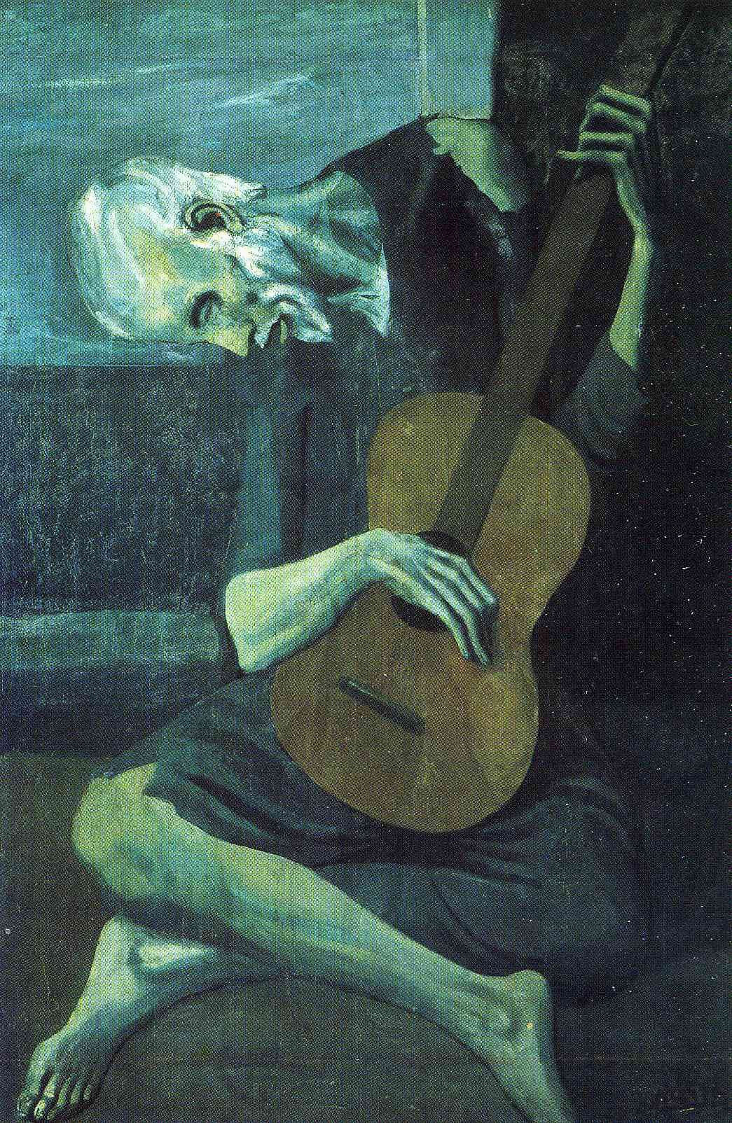 Pablo Picasso Peinture Unique the Old Blind Guitarist by Pablo Picasso Size 121 3x82 5 Cm Medium Stock