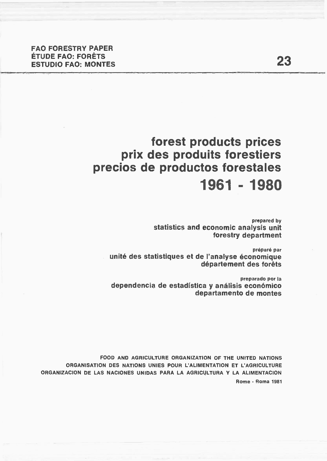 Pate En Anglais De Luxe forest Products Prices 1961 1980 Images