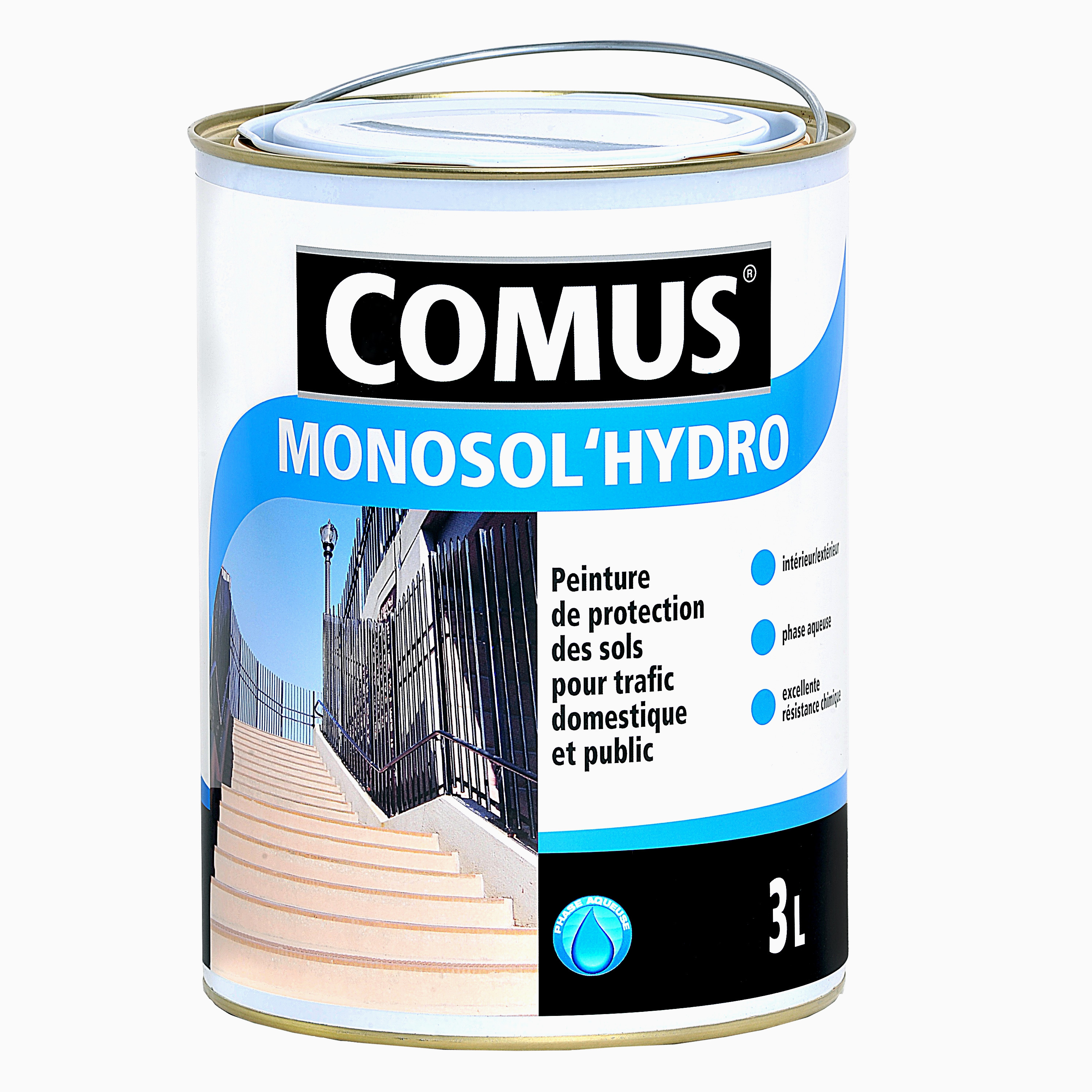 Peinture Epoxy Metal Frais Monosol Hydro Paint for Floors Subjected to Heavy Mercial Floors Images