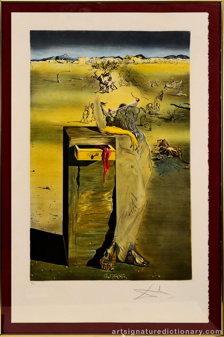 Peinture Figurative Moderne Frais Salvador Dali 1904–1989 Spain – Art Signature Dictionary La Photographie