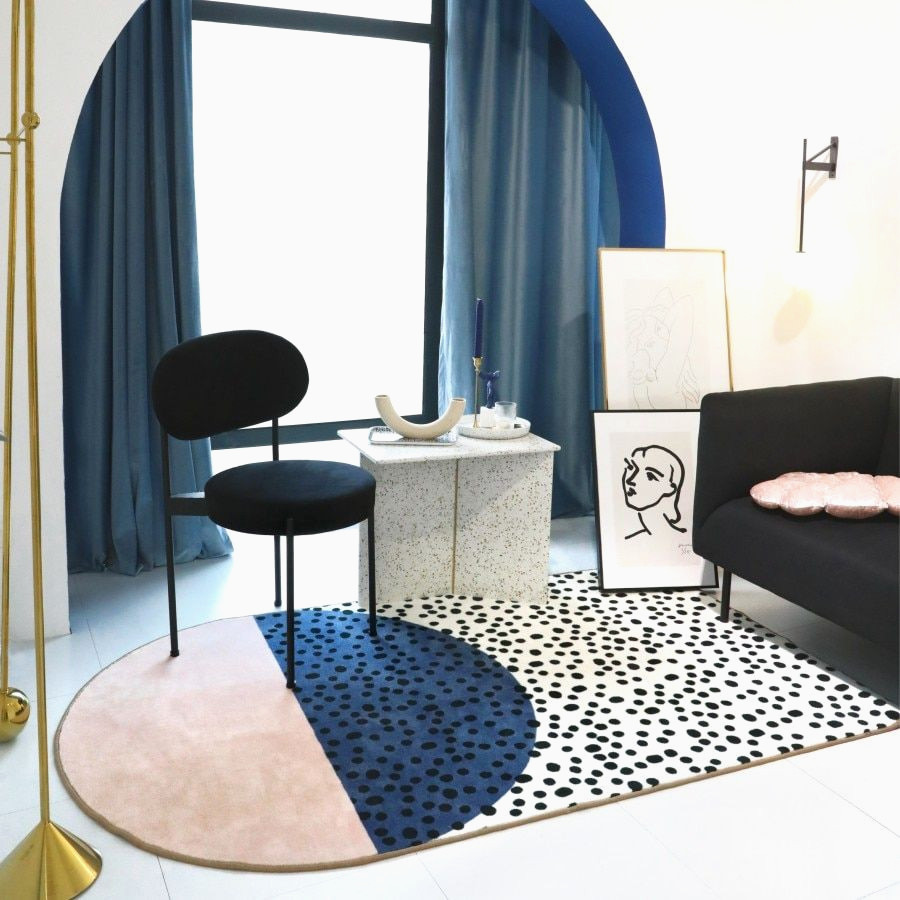 Tapis style Memphis design déco moderne salon design Collalily mode