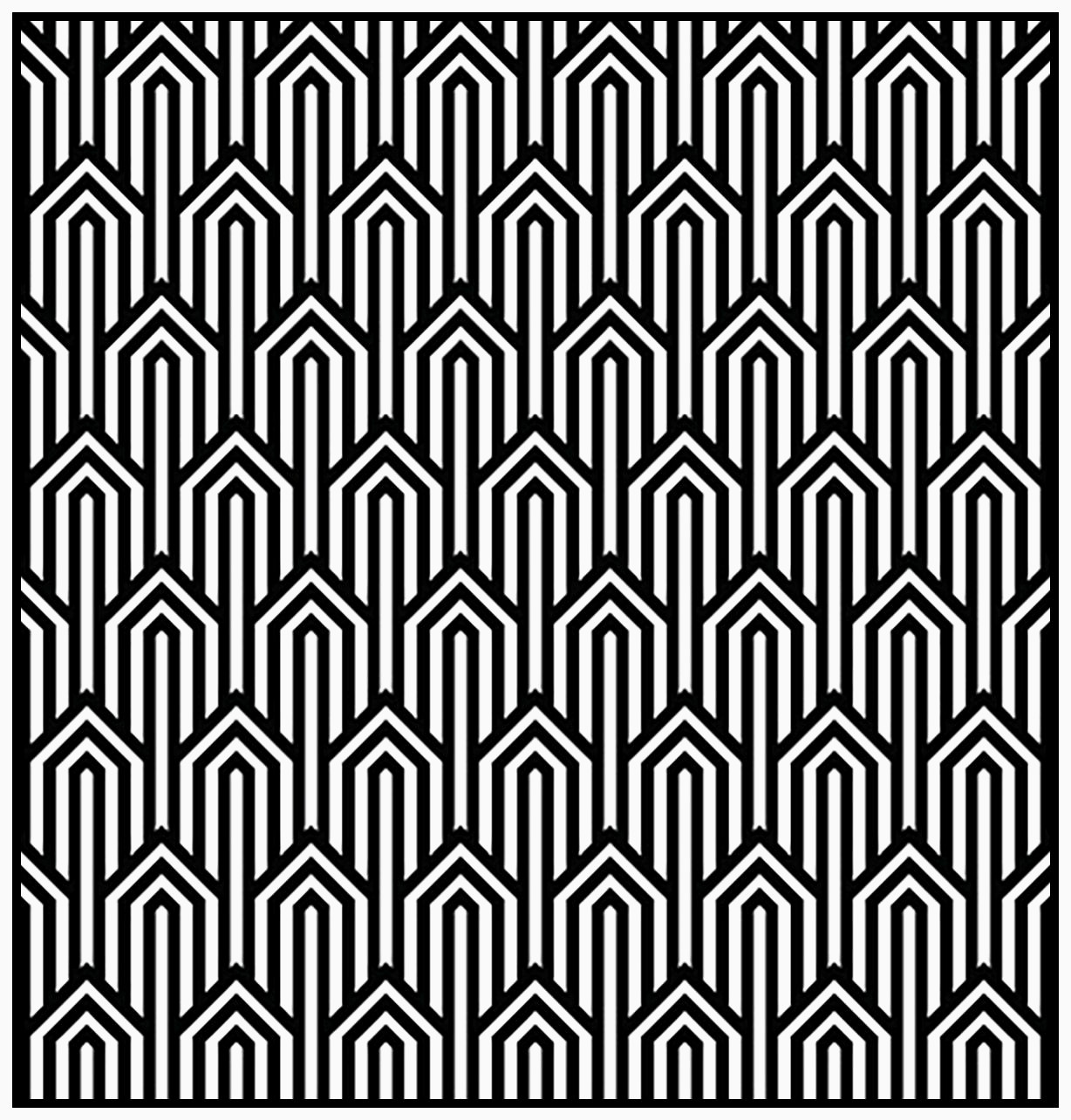 Peinture Geometrique Moderne Unique Art Deco Pattern Adult Coloring Page Style N°1 From the Gallery Galerie
