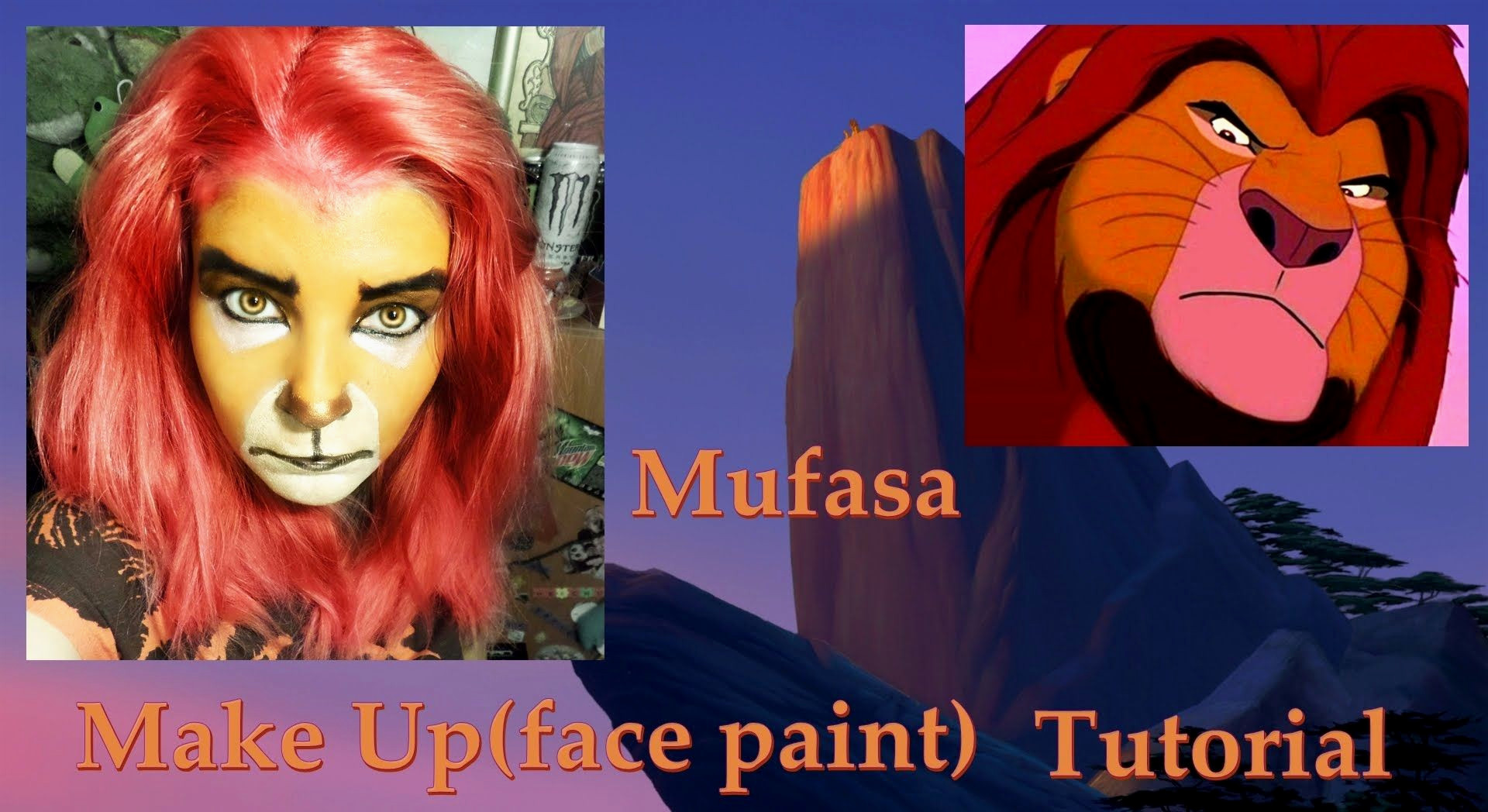 Mufasa Make Up face paint Tutorial